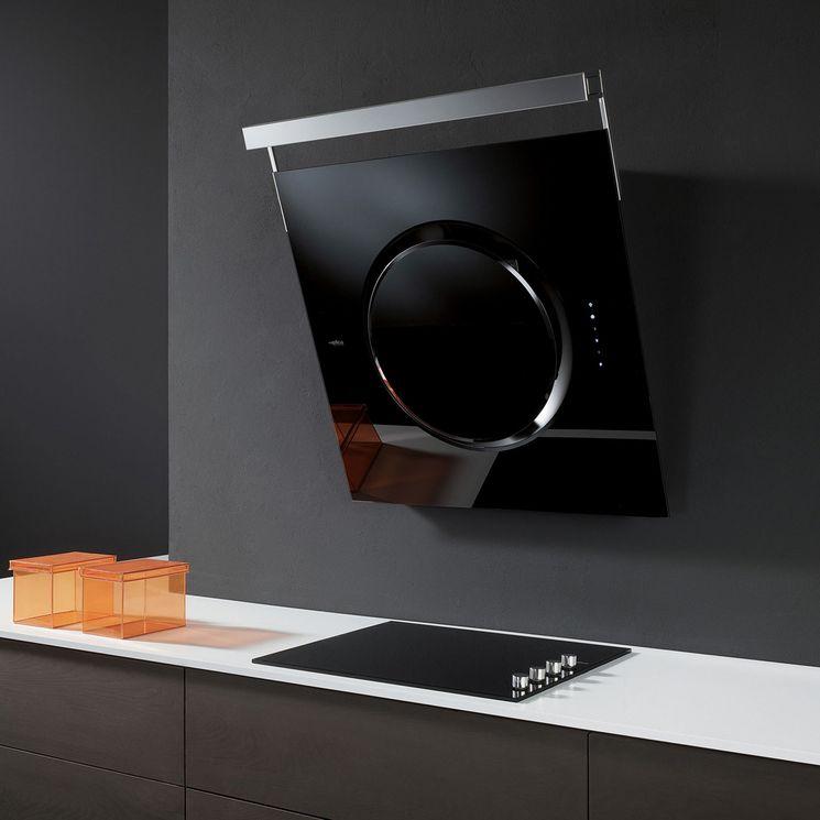 Hotte cuisine Elica murale noire OM TOUCH SCREEN  80 cm