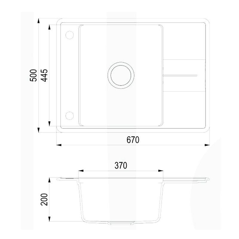 vier granit blanc 1 bac 1 gouttoir bellis evier. Black Bedroom Furniture Sets. Home Design Ideas