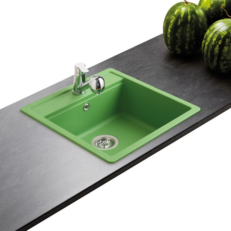 Évier granit vert Schock NEMO 1 bac 510x490