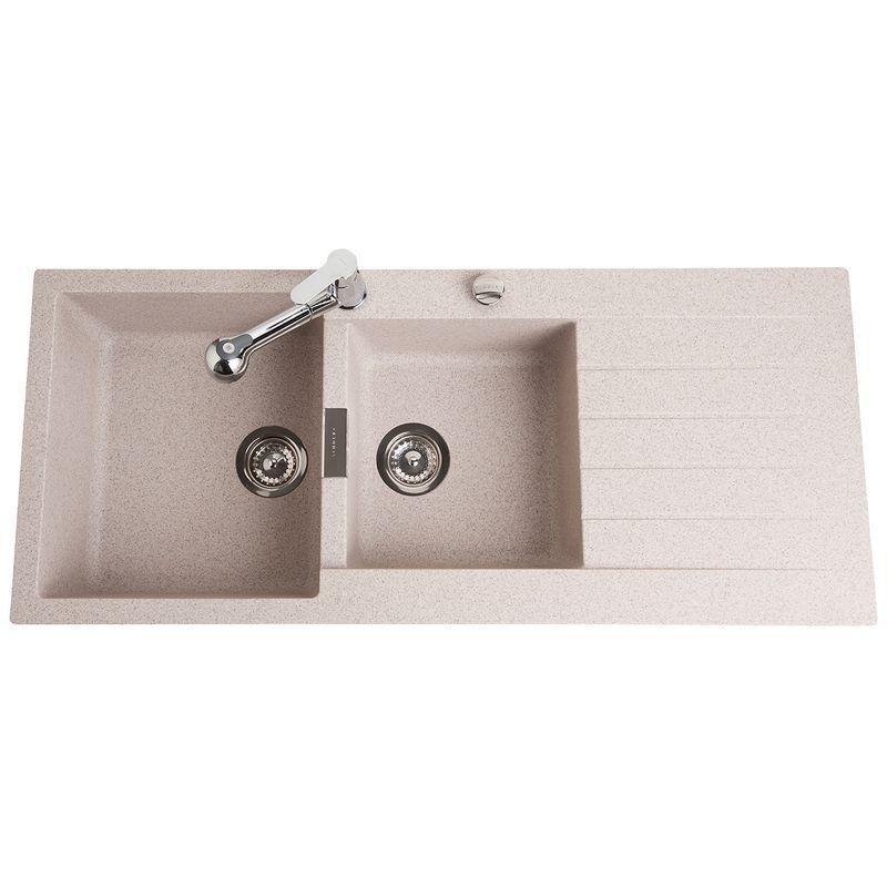 vier granit lokti schock coloris terra 2 bacs 1 gouttoir. Black Bedroom Furniture Sets. Home Design Ideas