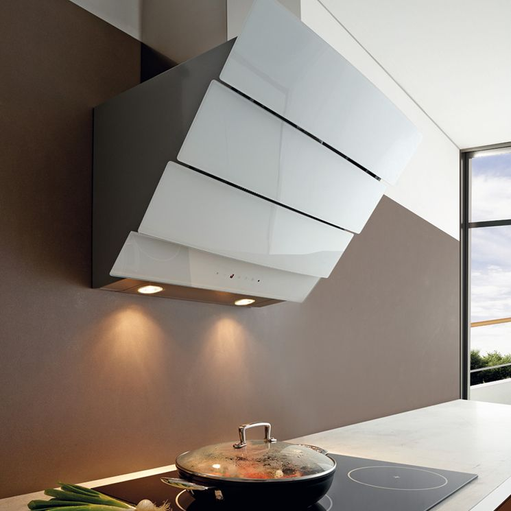 Hotte cuisine murale Silverline CITY blanc Largeur 600 (mm)
