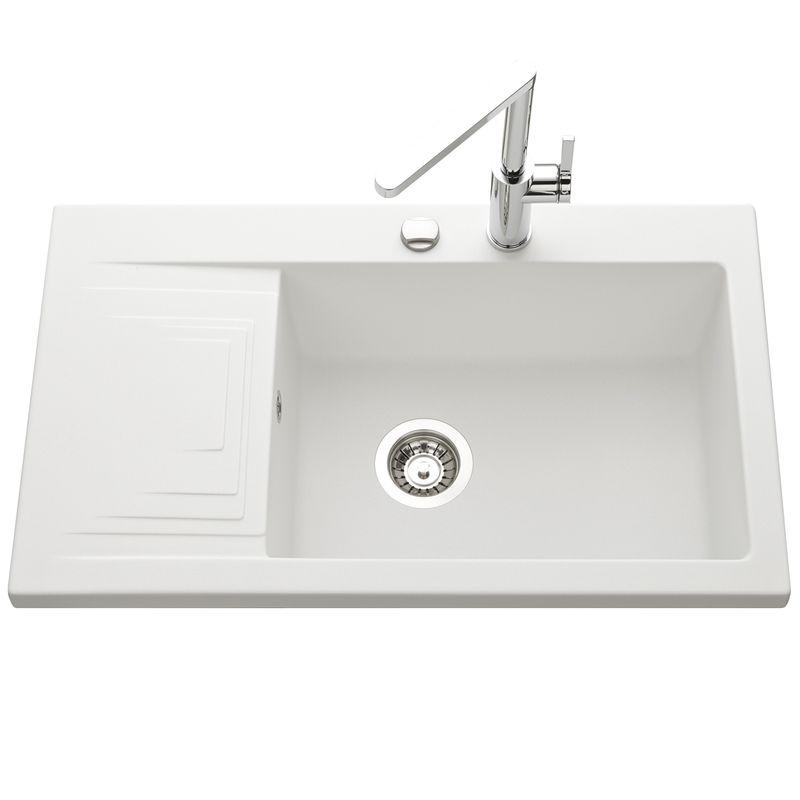 evier blanc en granit k mbad pepino 1 bac pour la cuisine. Black Bedroom Furniture Sets. Home Design Ideas