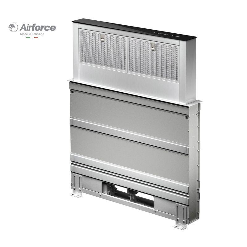 Airforce downdraft inox et verre hotte plan de travail pour la cuisine for Comfabrication plan de travail