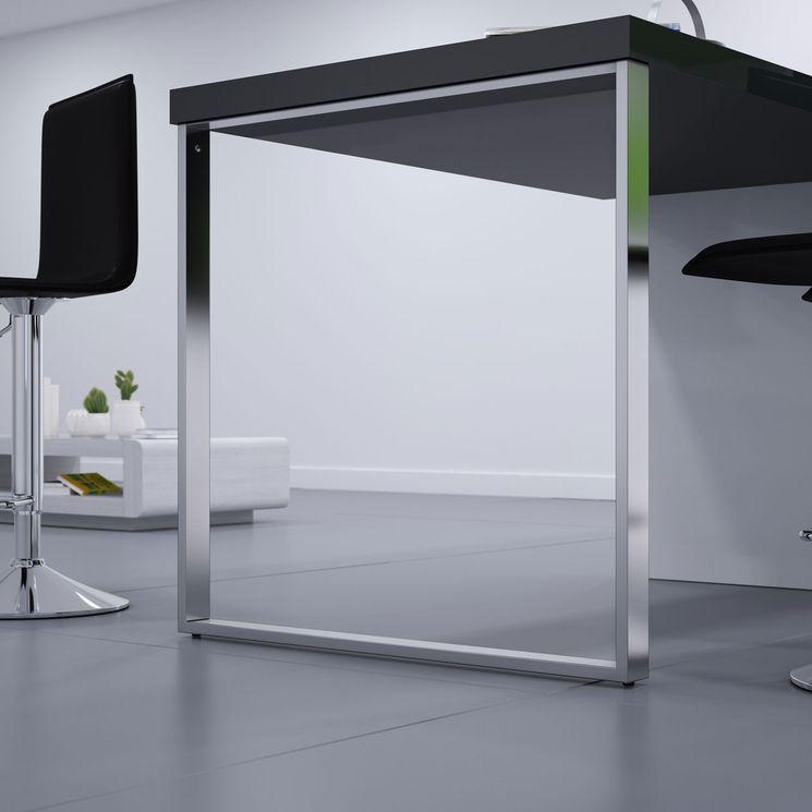 Pied de table rectangulaire TELESCOP Chromé H 900 réglable