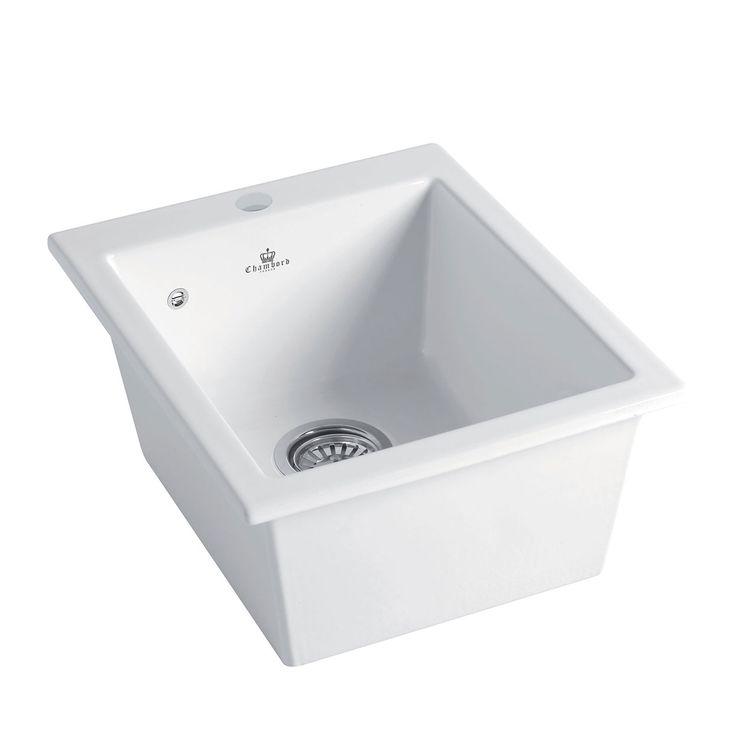 Évier céramique blanc FELIX 1 bac 410x505 mm