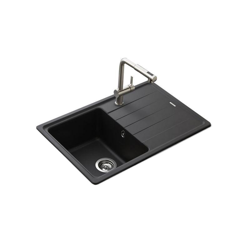 lot schock evier granit noir 1 bac element mitigeur crbmd227 cuisissimo. Black Bedroom Furniture Sets. Home Design Ideas