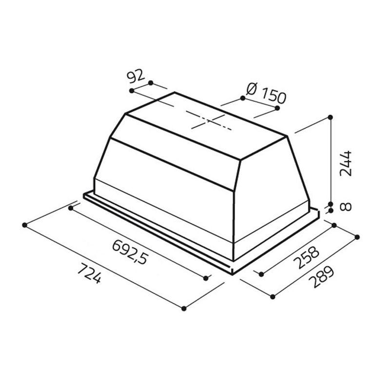 hotte de cuisine encastrable elica elibloc pour meuble de 80 cm 17614580. Black Bedroom Furniture Sets. Home Design Ideas