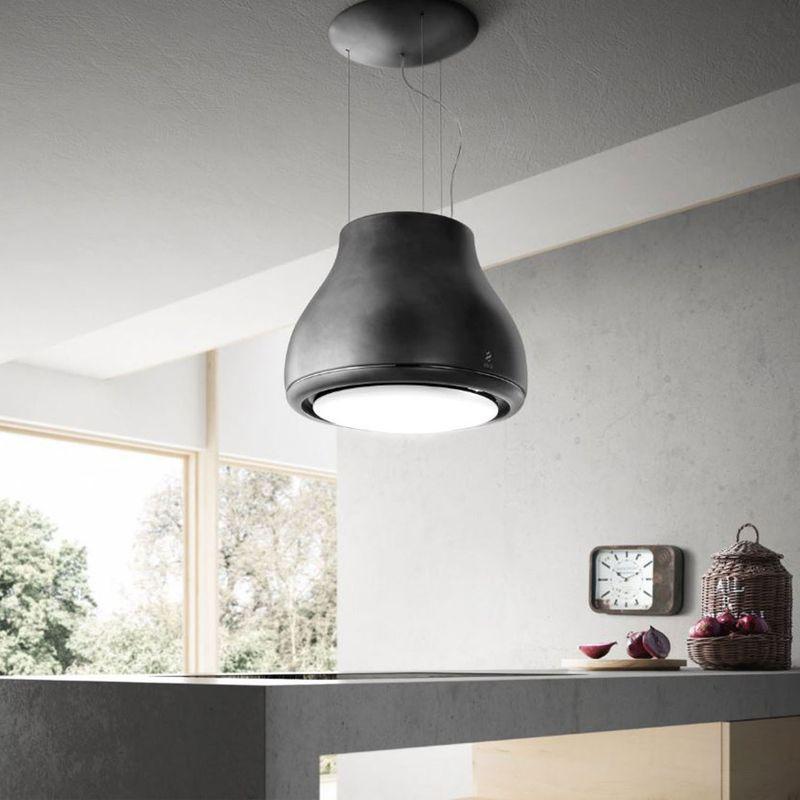 hotte shining d corative en lot noir mat de chez elica prf0120590. Black Bedroom Furniture Sets. Home Design Ideas