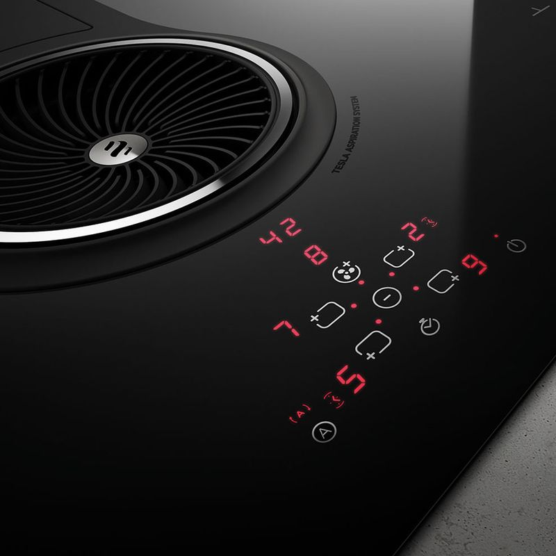 plaque de cuisson avec hotte int gr e elica nikolatesla bl. Black Bedroom Furniture Sets. Home Design Ideas