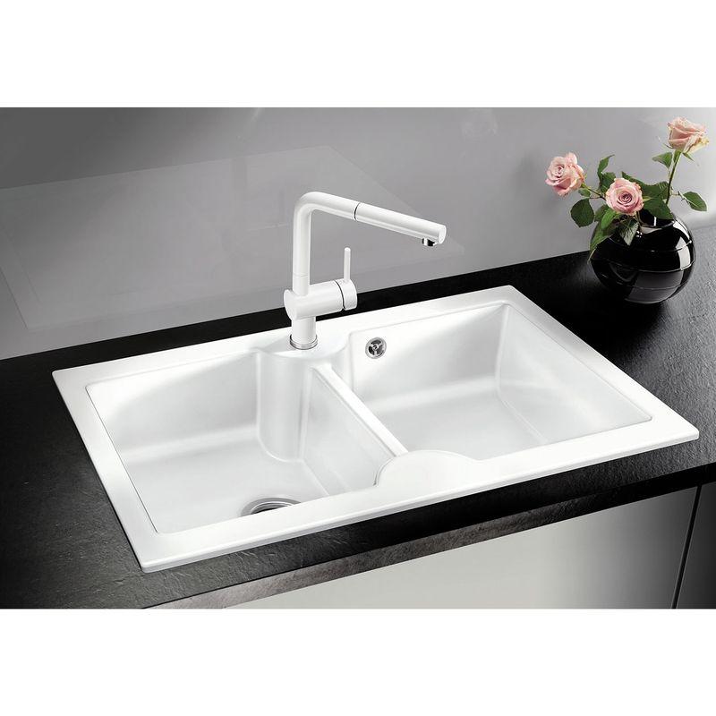 blanco vier cuisine idessa 9 c ramique 2 bacs blanc. Black Bedroom Furniture Sets. Home Design Ideas