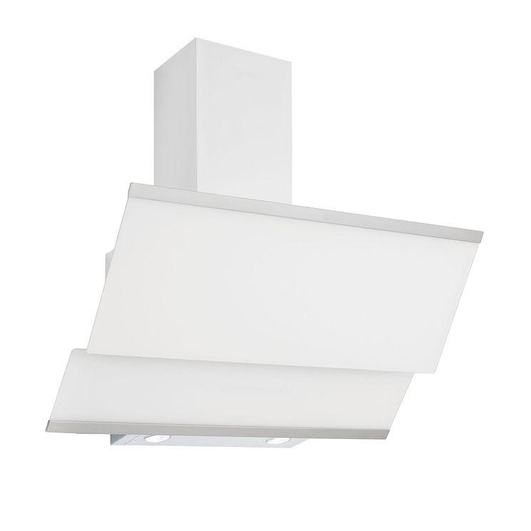 Hotte cuisine verticale Silverline LUKO verre trempé blanc
