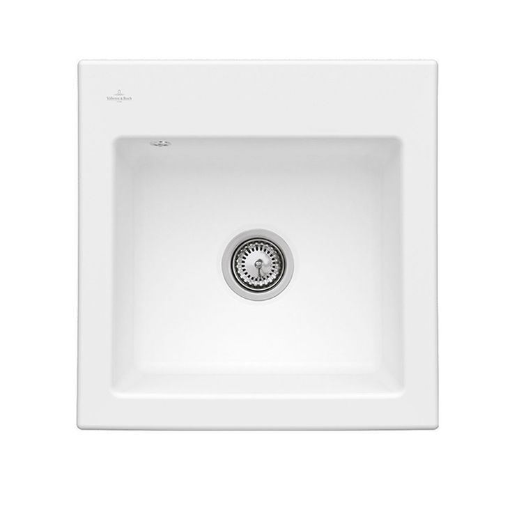 Evier céramique blanc Villeroy & Boch SUBWAY 1 bac 525x510