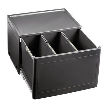 Poubelle de cuisine encastrable BLANCO BOTTON Pro 60/3 Manuell - 3x13 litres