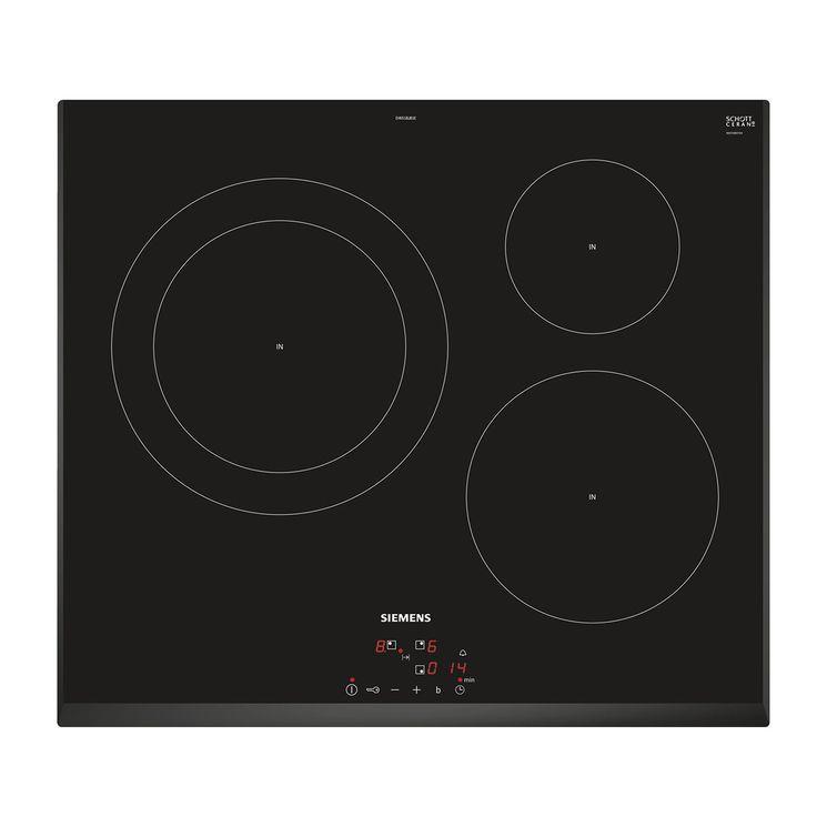 Plaque induction noir Siemens iQ100 EH651BJB1E