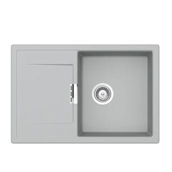 Evier granit Schock MONO gris perle 1 bac 1 égouttoir