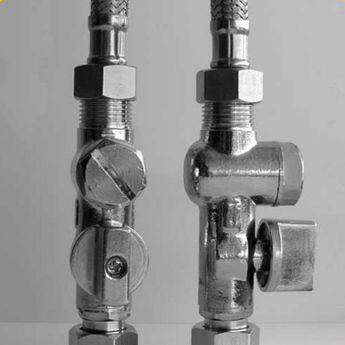 Set de 2 robinets d´arrêt avec filtre