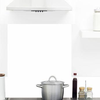 Crédence cuisine aluminium 99 Déco - Blanc Intense TOTAL WHITE