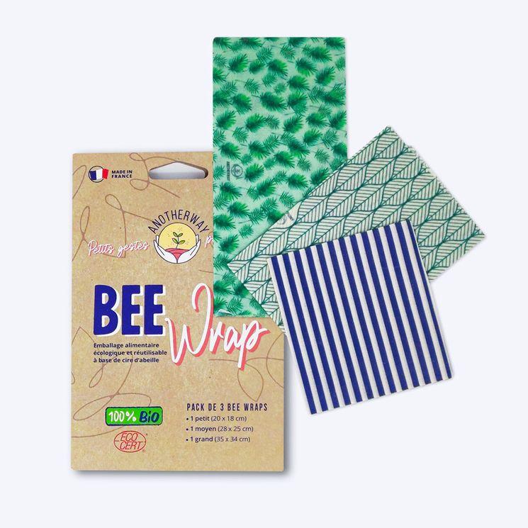 Bee wrap - Pack de 3 Emballages Alimentaires BIO Végétal