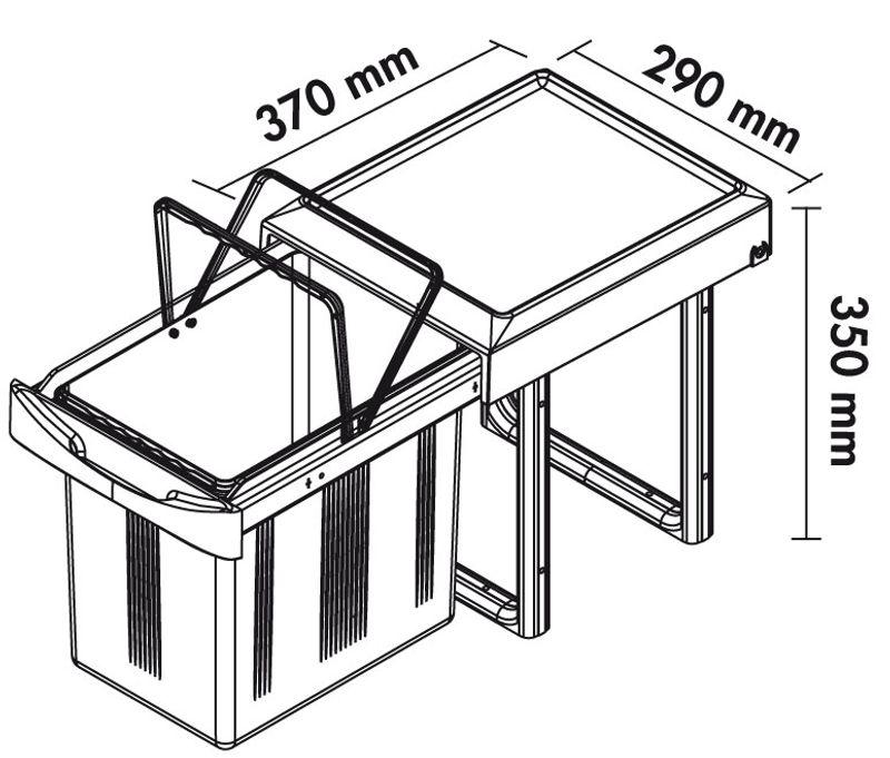 poubelle encastrable daryus 16 litres. Black Bedroom Furniture Sets. Home Design Ideas