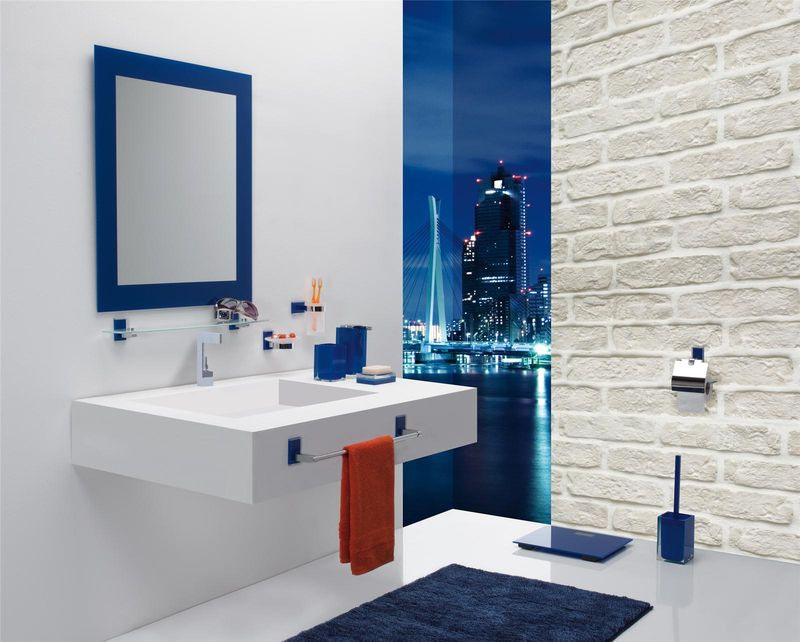 porte balai wc bleu rania bainissimo. Black Bedroom Furniture Sets. Home Design Ideas