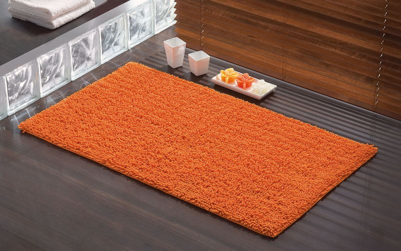 tapis de bain tuya orange 120x70 cm bainissimo With tapis de bain orange