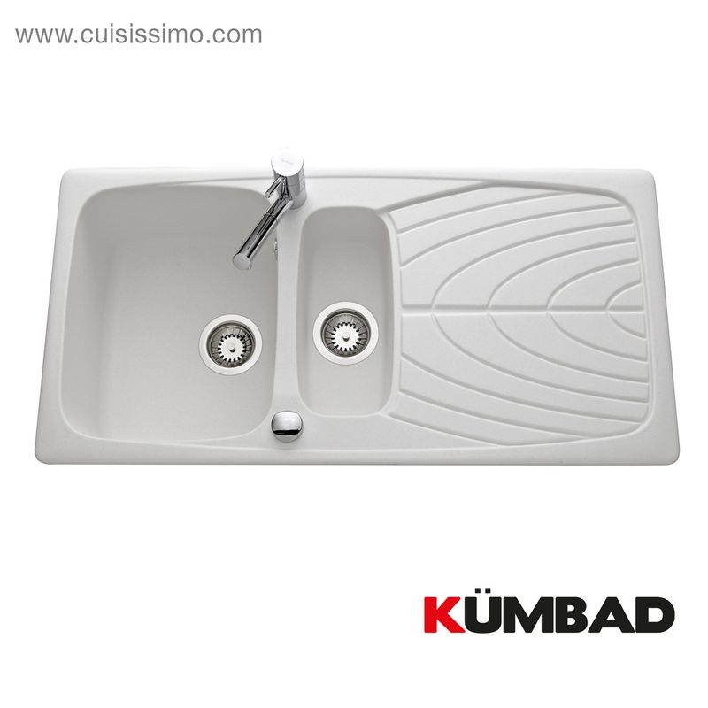 Receveur douche rectangulaire en béton de synthèse blanc