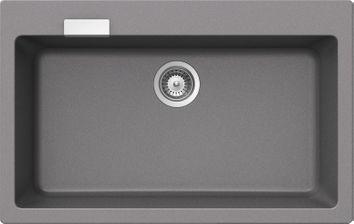 lot evier granit gris 1 bac sans gouttoir lokti mitigeur hansa crbmi142 cuisissimo. Black Bedroom Furniture Sets. Home Design Ideas
