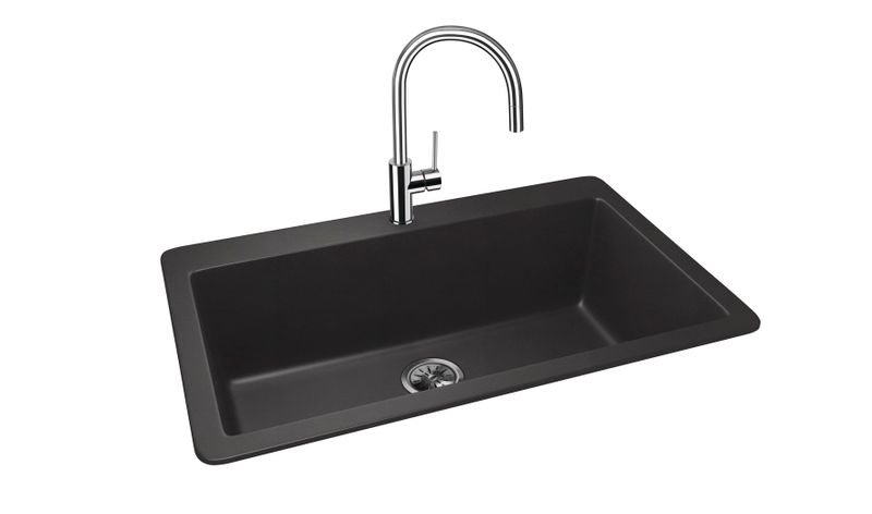 Vier granit noir schock zina 1 grand bac 838x530 cuisissimo for Evier un grand bac