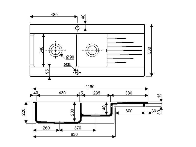 evier cuisine blanc 2 bacs avec des id es int ressantes pour la conception de la. Black Bedroom Furniture Sets. Home Design Ideas