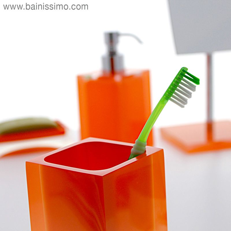porte brosse dents orange rania bainissimo. Black Bedroom Furniture Sets. Home Design Ideas