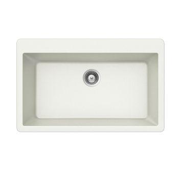 Évier granit blanc Schock ZINA 1 grand bac  838x530