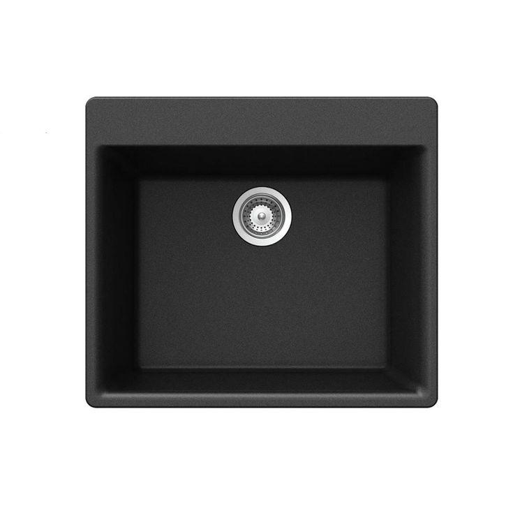 Évier granit noir Schock KAZU 1 grand bac  600x530